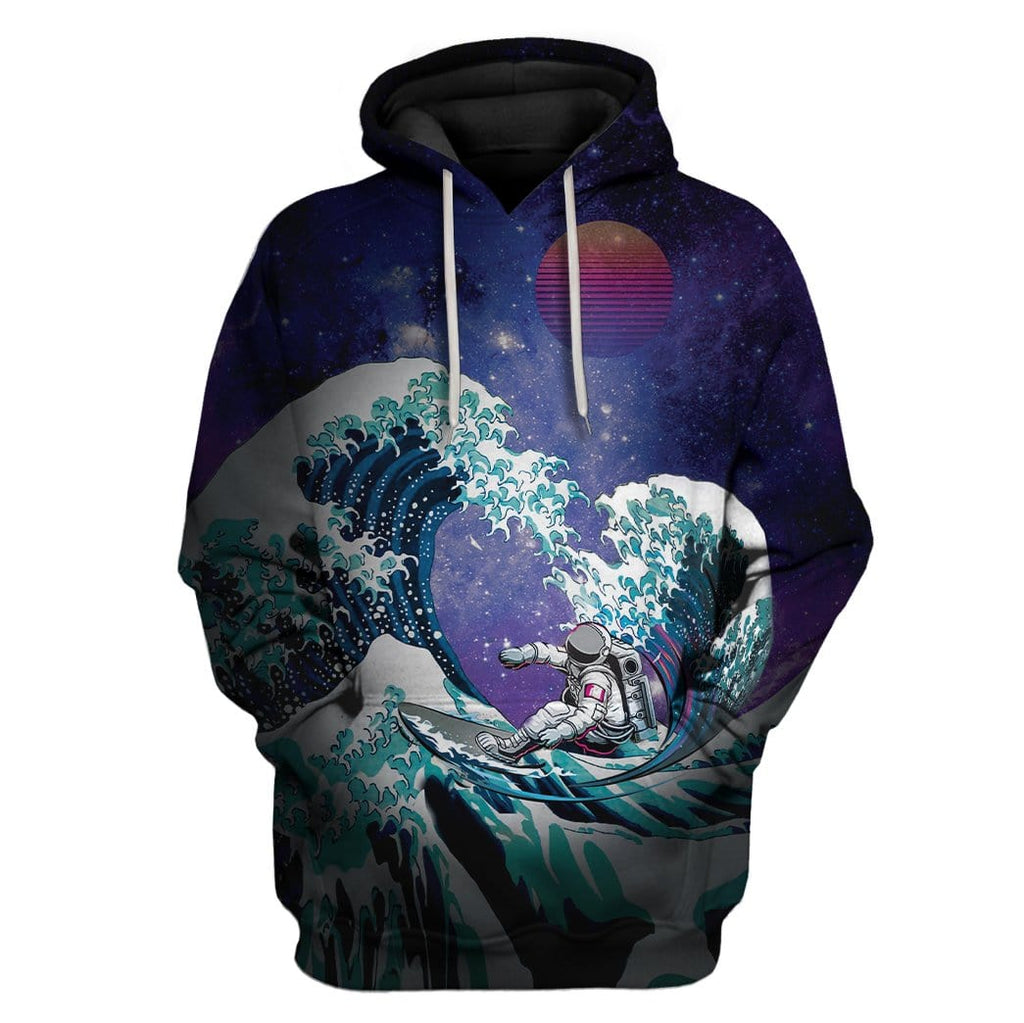 Astronaut Surfing Off Wave Custom T-Shirts Hoodie Apparel