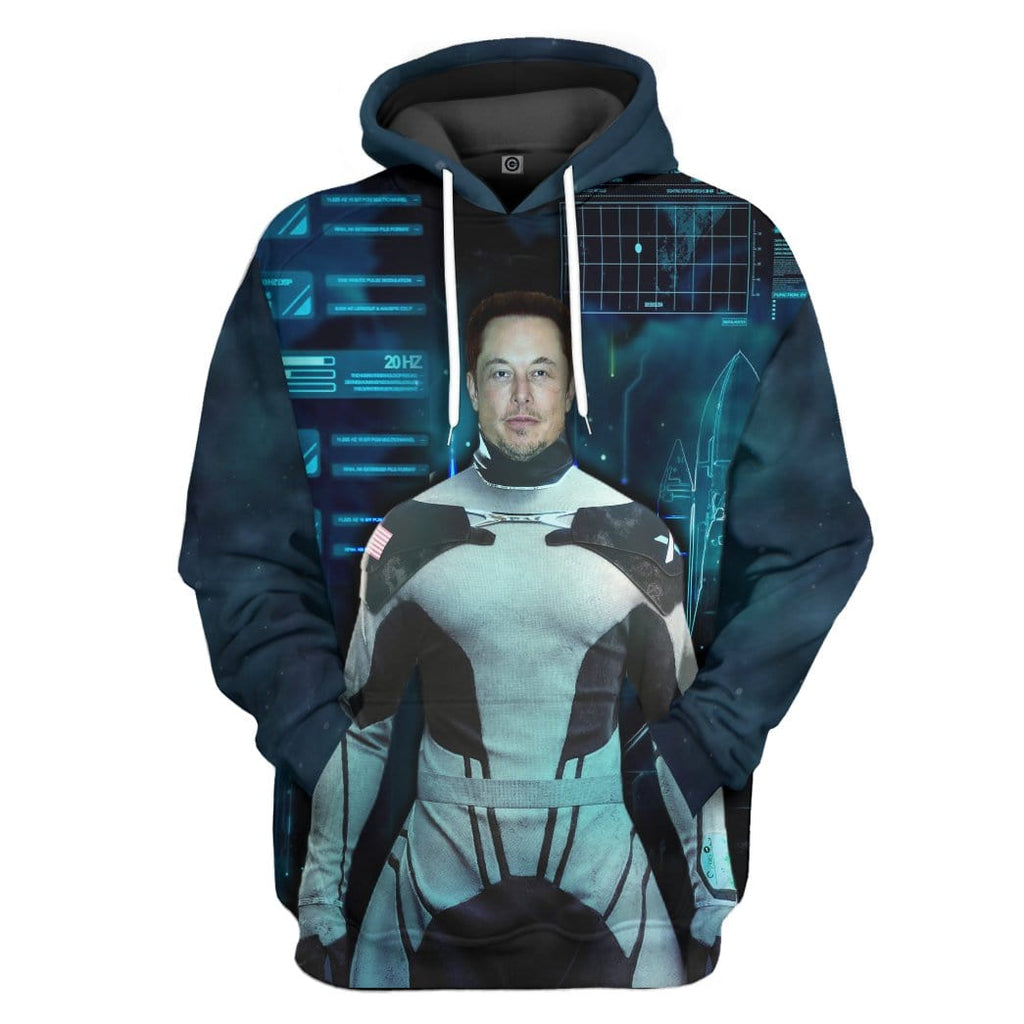 Gearhuman 3D Elon Musk The New Iron Man Custom Hoodie Apparel