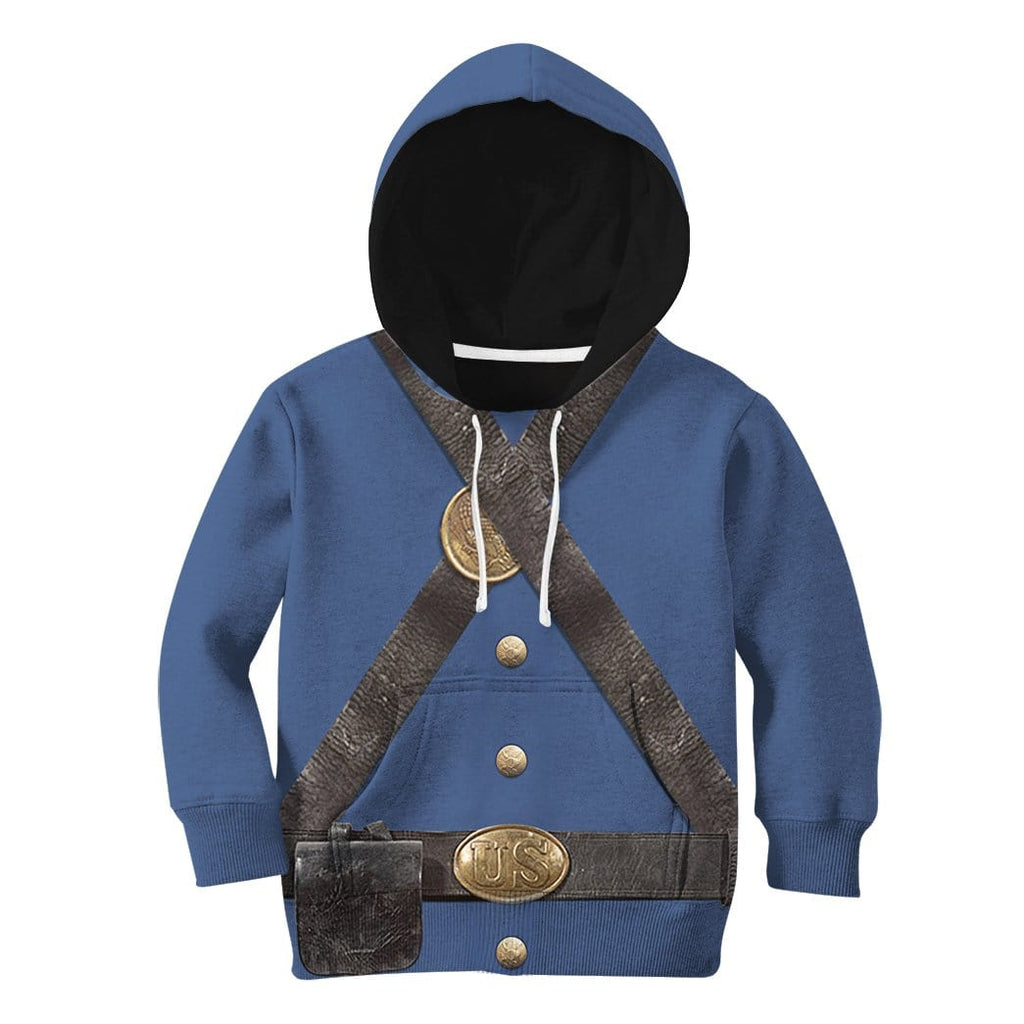 Gearhuman 3D Kid US Civil War Union Infantry Uniform Hoodie Apparel