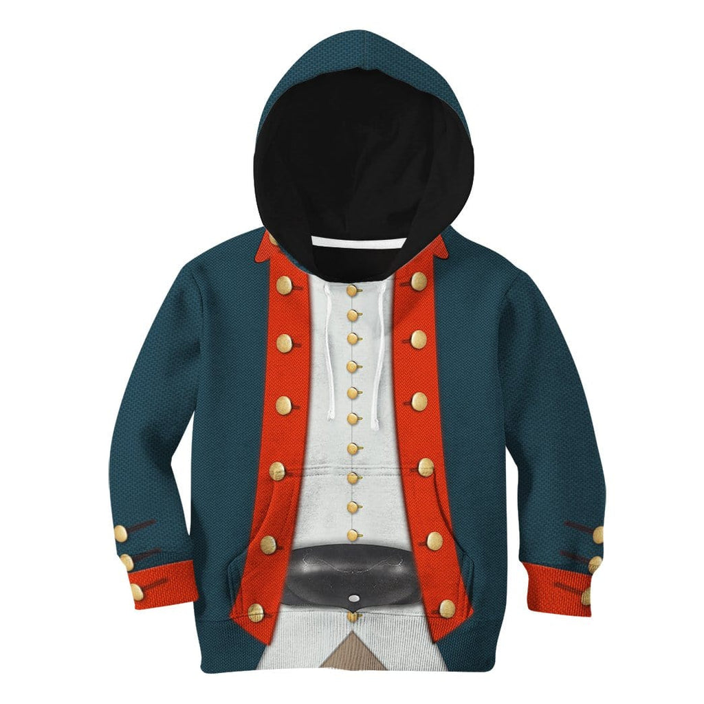 Gearhuman 3D Kid American Revolutionary War Uniform Hoodie Apparel