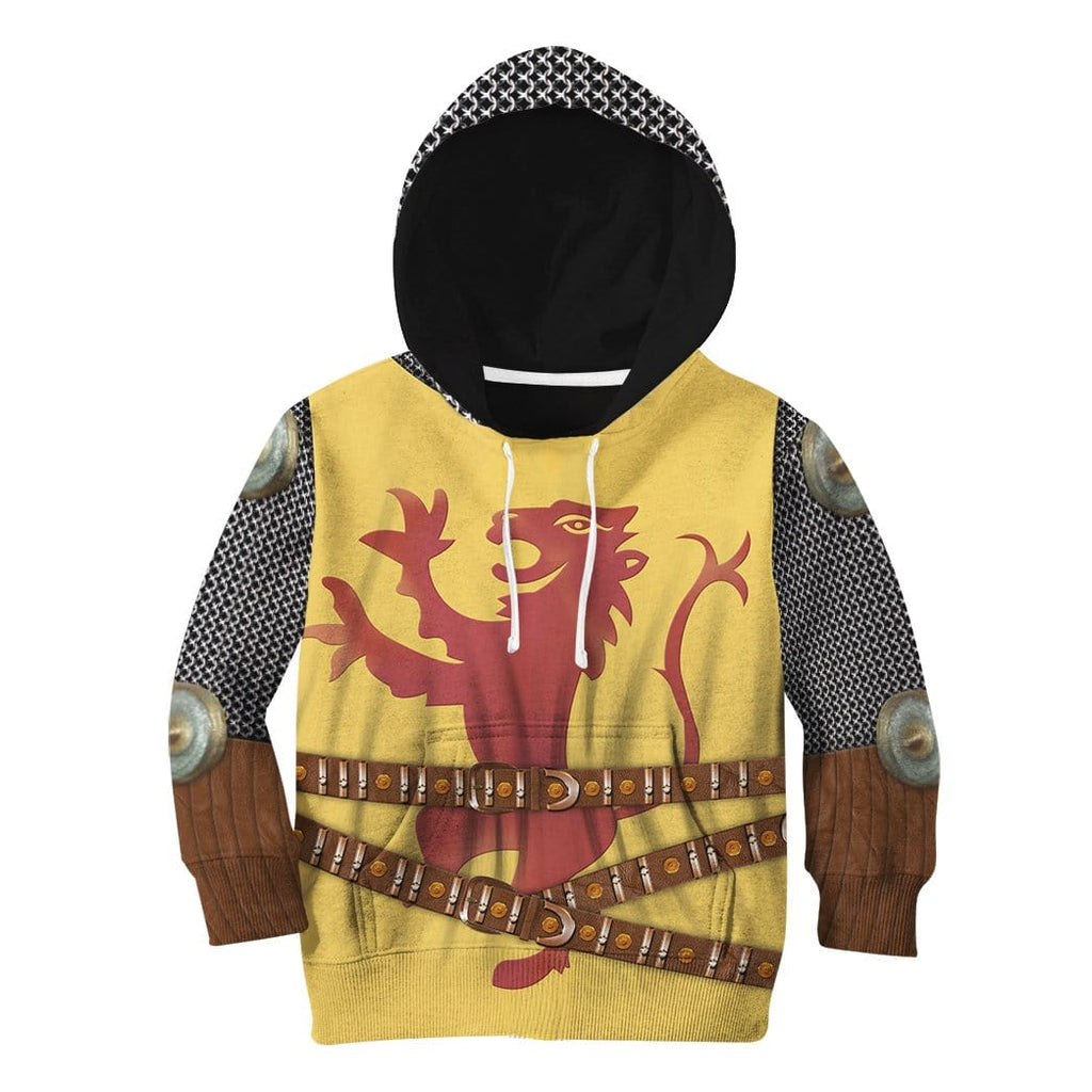 Gearhuman 3D Kid Cosplay Robert The Bruce Fleece Hoodie Apparel