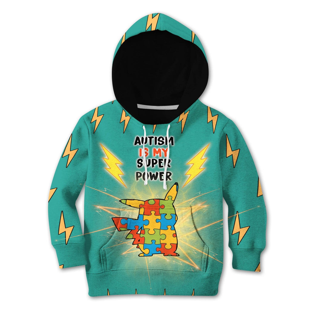 Gearhuman 3D Kid Autism Is My Super Power Custom Tshirt Hoodie Apparel