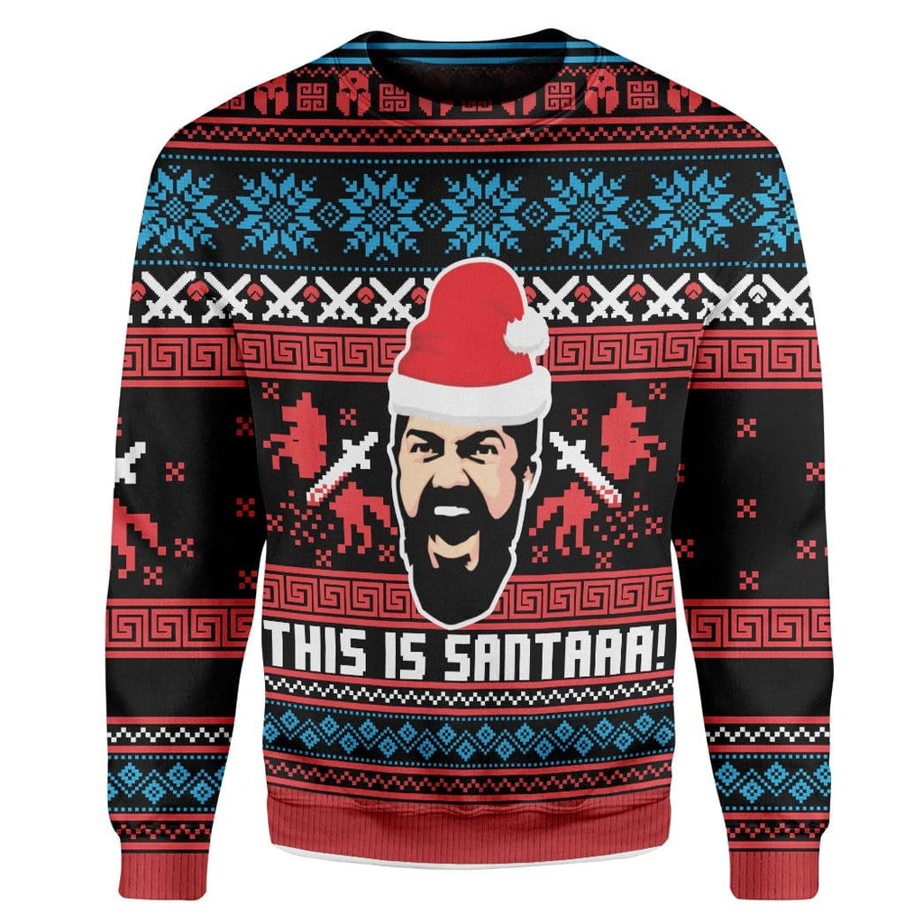 Custom Ugly This Is Sata Christmas Sweater Jumper