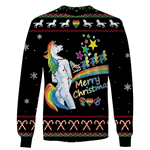 3D Ugly Unicorn Merry Christmas  Full-Print T-shirt - Hoodie