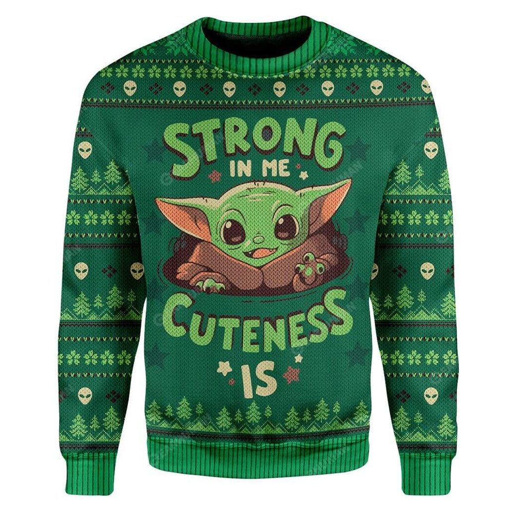 3D Ugly Christmas Strong In Me Cuteness Is Sweater Apparel