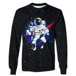 3D nasa Astronaut in the space  Full-Print T-shirt - Hoodie