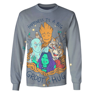 Gearhuman 3D Happiness is a big Groot Hug  Tshirt - Zip Hoodies Apparel
