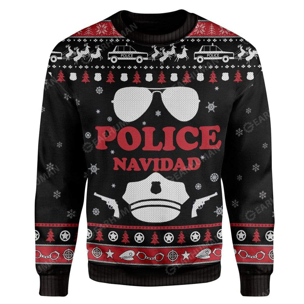 Ugly Christmas Police Navidad Custom Sweater Apparel