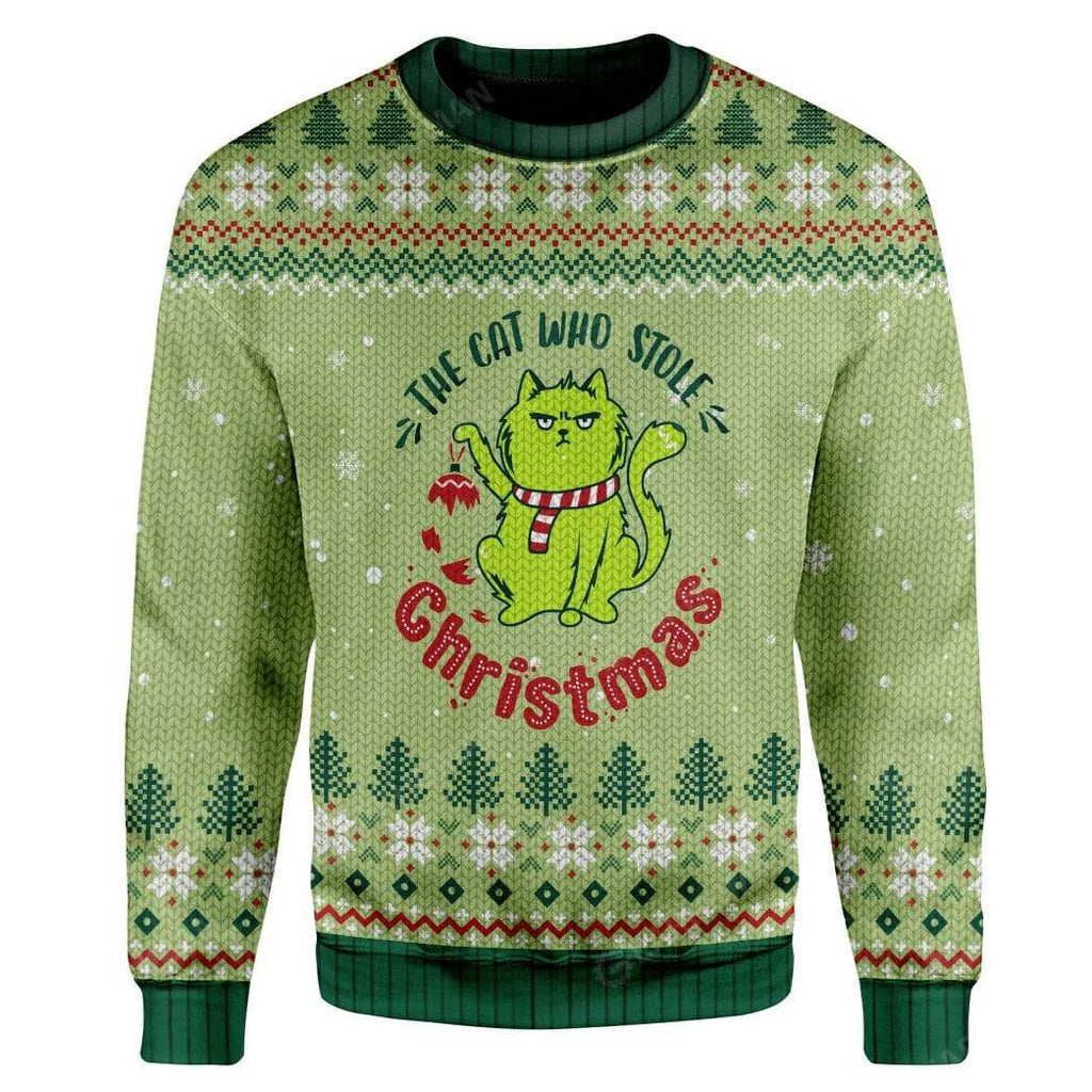 Ugly Christmas The Cat Who Stole Christmas Custom Sweater Apparel