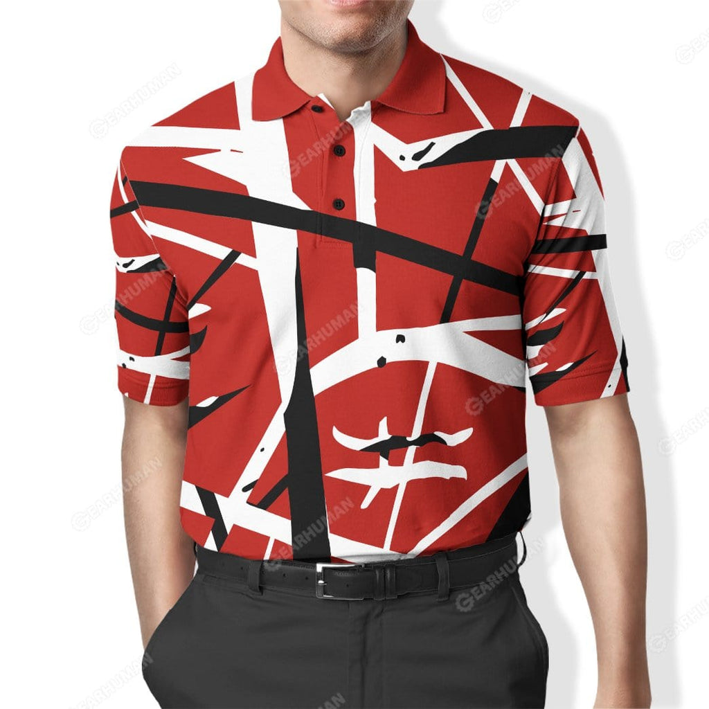 Custom Polo T-Shirt Eddie Van Halen