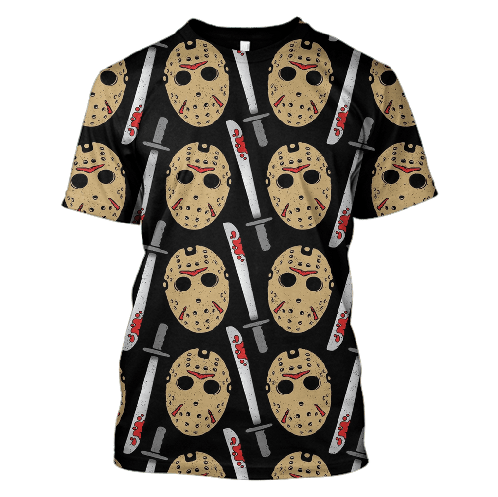 Jason Voorhees Friday The 13Th Tshirt - Zip Hoodies Apparel