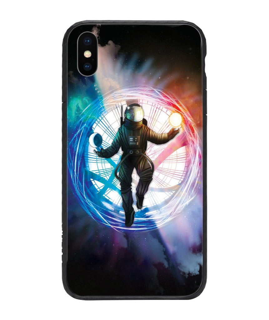 Custom Glass Phone Case Cover Astronaut As Doctor Strange