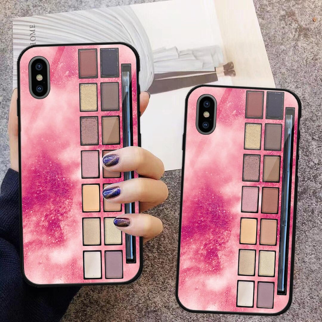Custom Glass Phone Case Cover Makeup Eyeshadow Palette