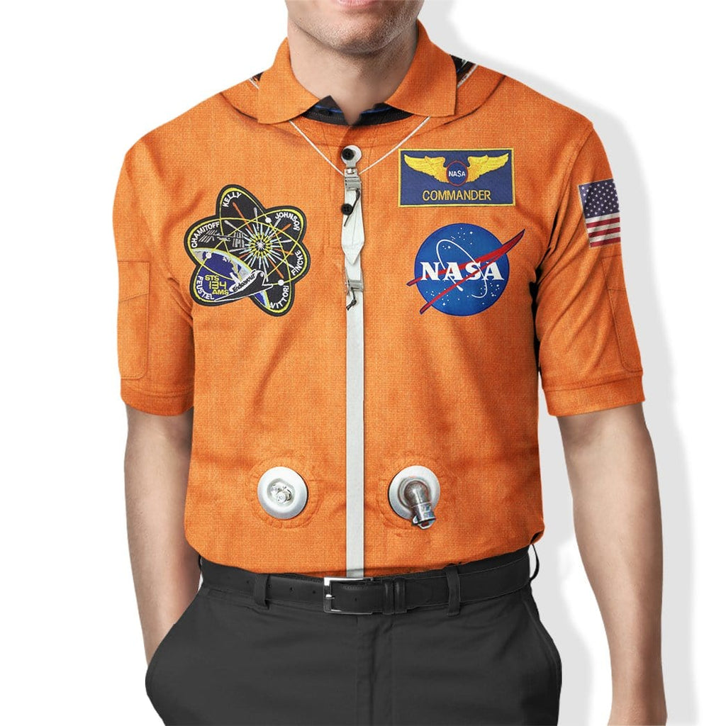 Custom Polo T-Shirt Nasa