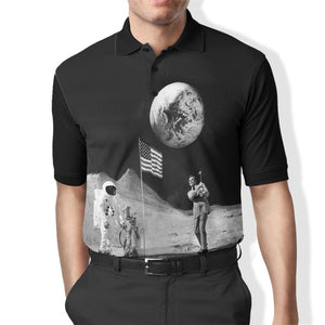 3D ASTRONAUT   Full-Print Polo T-Shirt Apparel