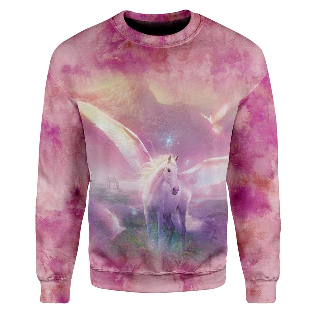 Gearhuman 3D Fantasic Unicorn Custom Sweatshirt Apparel