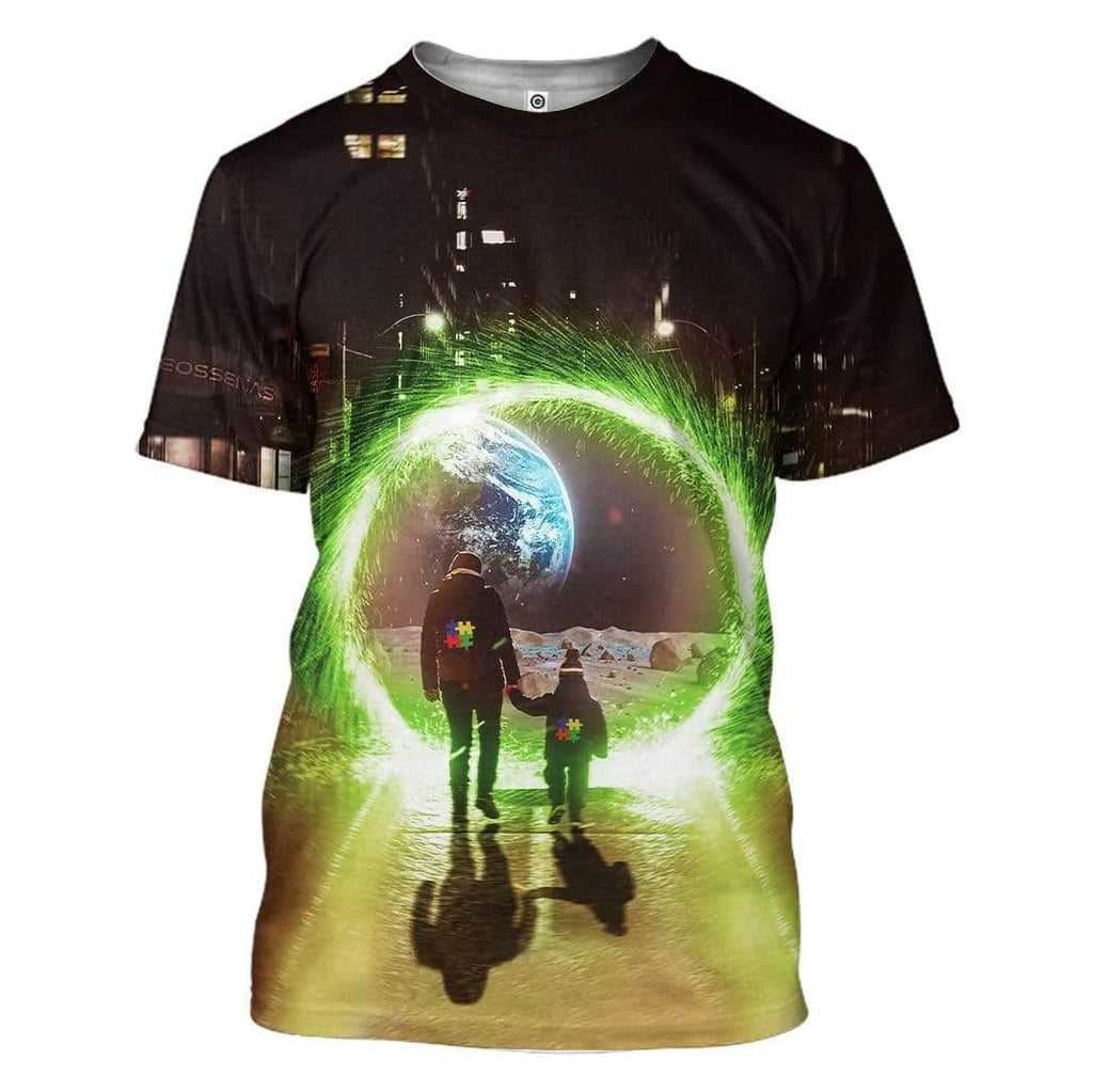 Autism Rick and Morty Nasa Custom T-Shirt Apparel