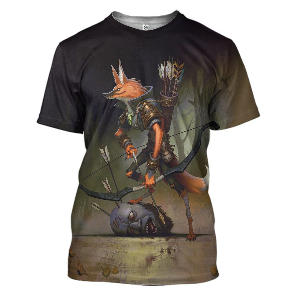 Gearhuman 3D Red Hunter Custom Tshirt Apparel