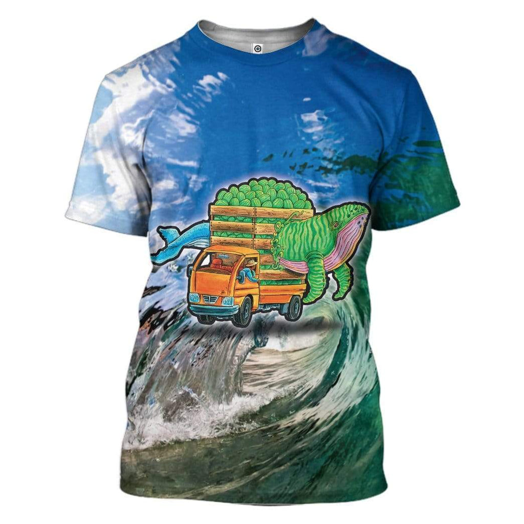 Spirit Whale And Watermelon Truck T-Shirt Apparel