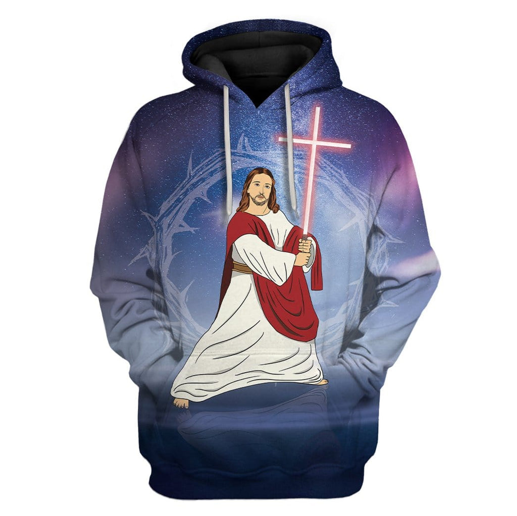 Sky Jesus In Galaxy Custom T-Shirts Hoodies Apparel