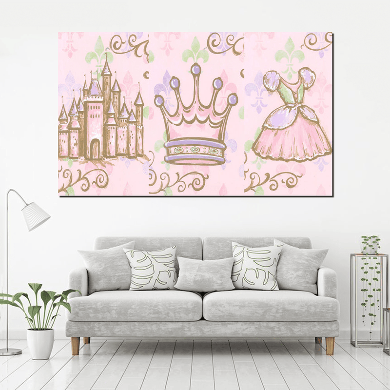 Little Princess Canvas For Kid Room Decor