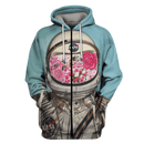 3D  Astronaut OuterSpace Nasa Full-Print T-shirt - Hoodie