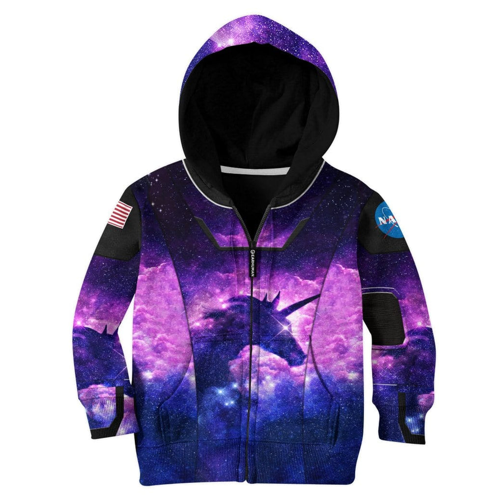 Gearhuman 3D Unicorn Nasa Custom Kid Hoodie Apparel