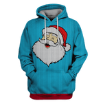 3D Old Man Santa Claus Full-Print T-shirt - Hoodie