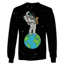 3D Astronaut  with earth in the space  Full-Print T-shirt - Hoodie
