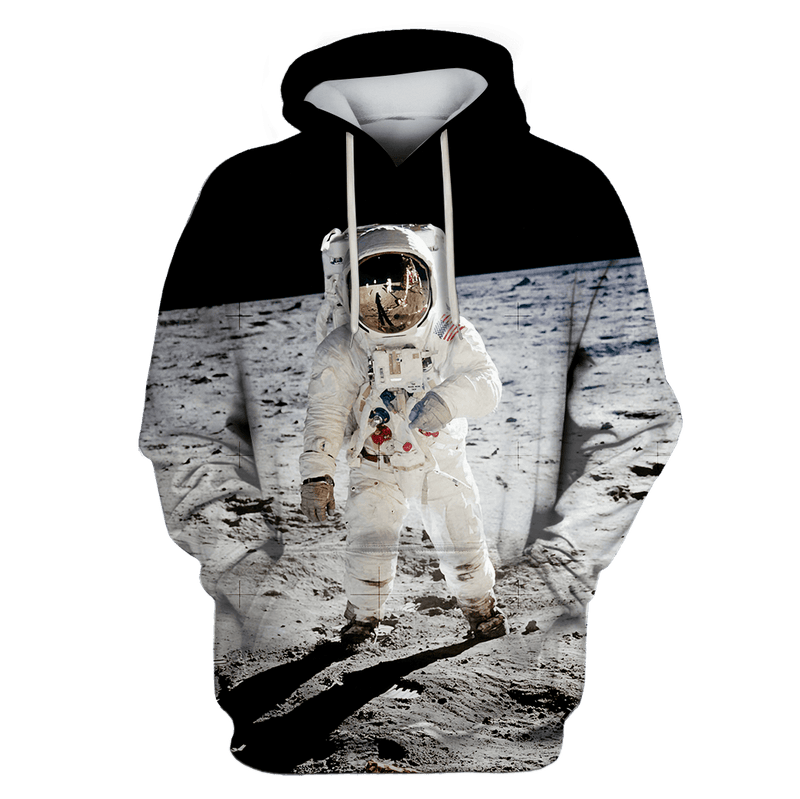 3D Astronaut Taking A Photo Outspace Full-Print T-shirt - Hoodie
