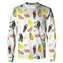 3D  Flamingo with banana Full-Print T-shirt - Hoodie