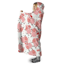 3D  Pink pigs with Christmas day  Full-Print Hooded Blanket