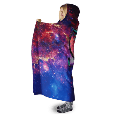 3D Owl  Full-Print Hooded Blanket