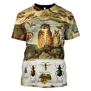3D    Birds and insects   Full-Print T-shirt - Hoodie Apparel