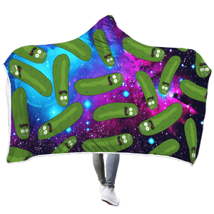 Gearhuman 3D Cute Cucumber Custom Hooded Blanket