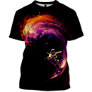 3D Astronaut  facing with waves  Full-Print T-shirt - Hoodie