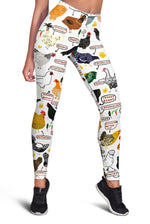 3D Chicken Breeds Full-print Leggings