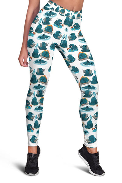 3D Cute godzilla Full-print Leggings