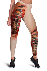 3D Full-print Leggings Robot Biomechanical Body
