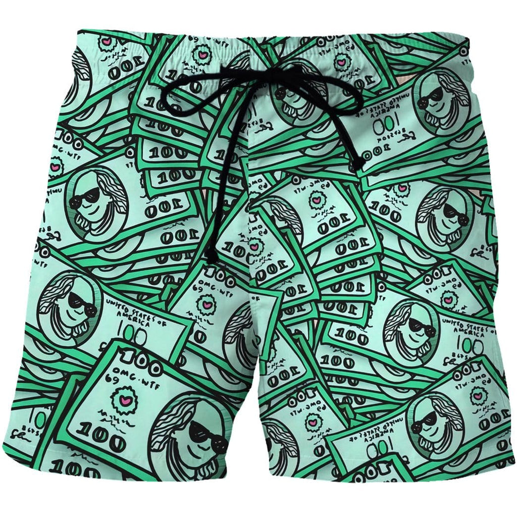 Custom Beach Shorts - Swim Trunks Dollar
