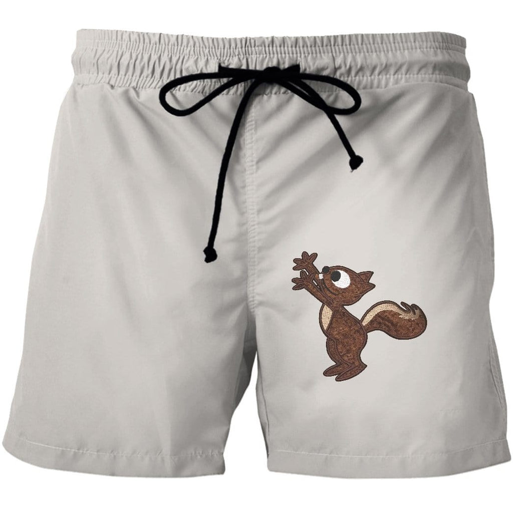 Squirrel Custom Beach Shorts Swim Trunks