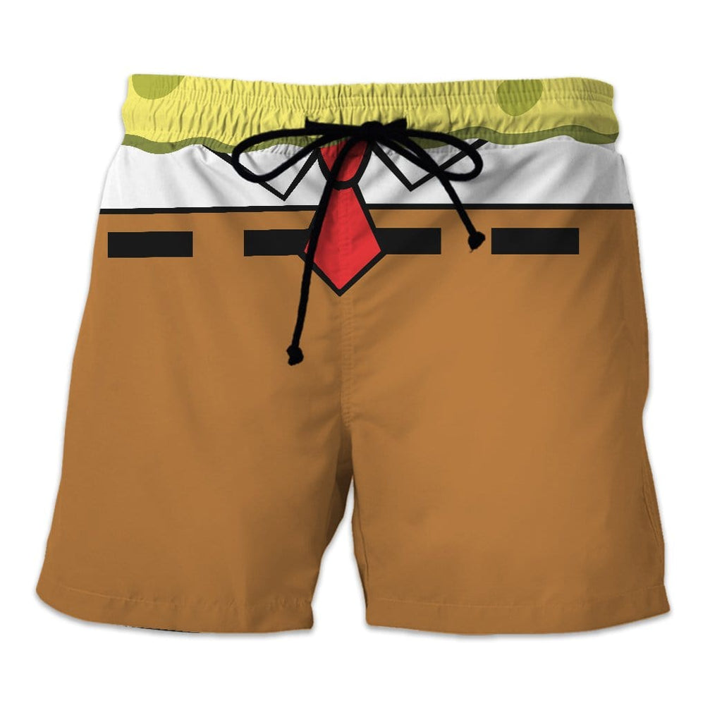 Gearhuman 3D SpongeBob Custom Beach Short