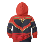 3D Captain Marvel Full-Print Hoodie T-shirt