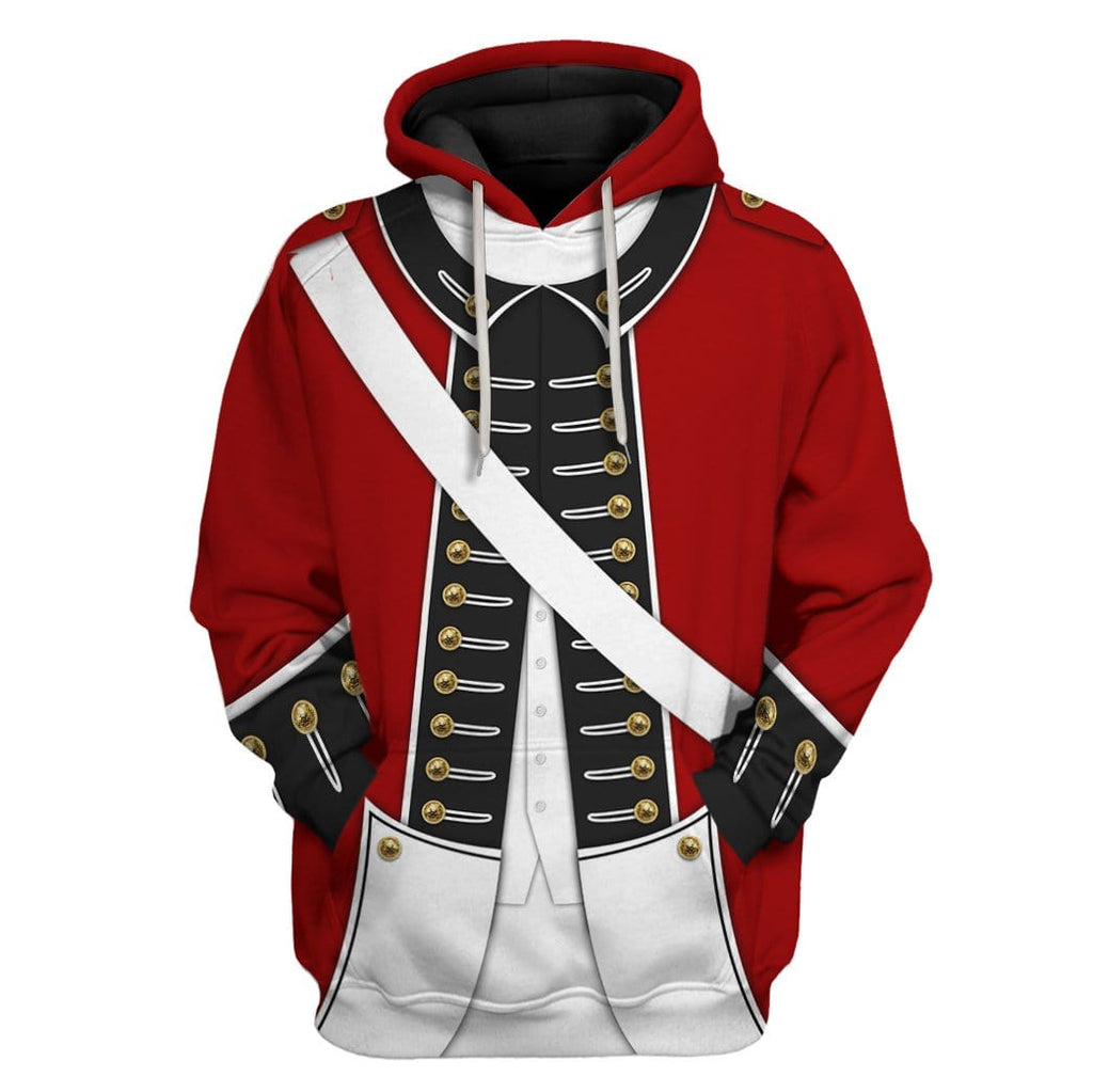 Revolutionary War Uniform Custom T-shirt - Hoodies Apparel