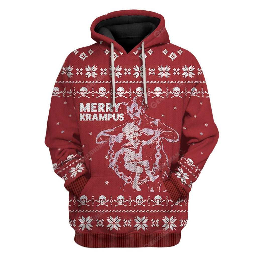 Ugly Merry Krampus Hoodie T-Shirts Apparel