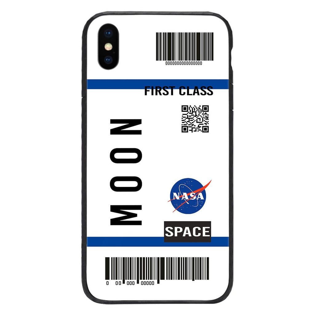 Custom Glass Phone Case Cover Moon Ticket