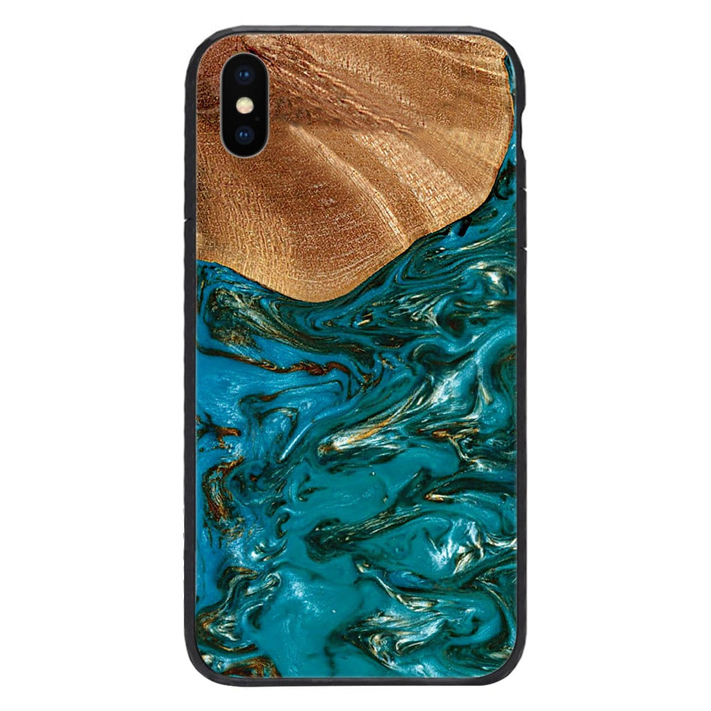 Custom Glass Phone Case Cover Wood And Epoxy