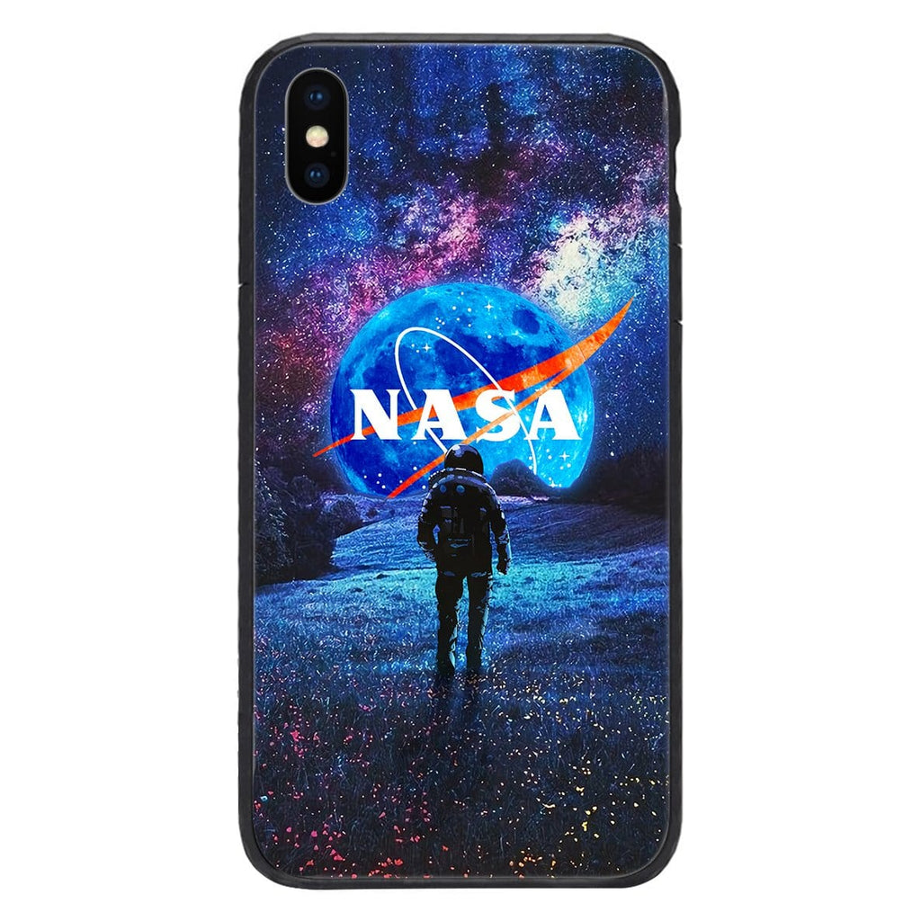 Custom Glass Phone Case Cover Nasa Astronaut