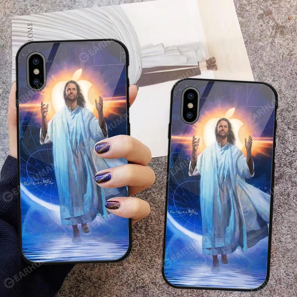 Custom Glass Phone Case Cover Jesus