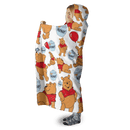 3D Winnie The Pooh And Honey Full-Print Hooded Blanket